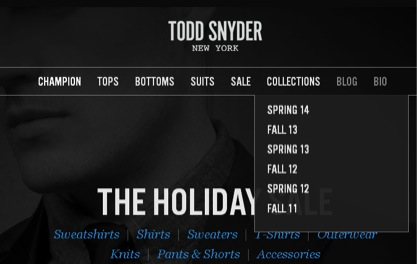 Todd Snyder Website