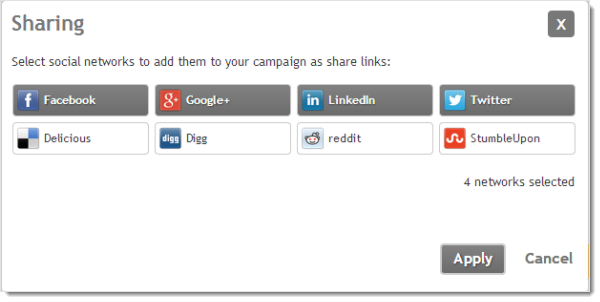 add social networks to your campaign