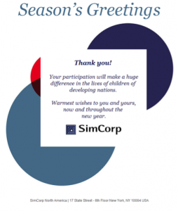 SimCorp Thank You Landing Page