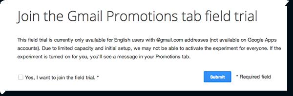 gmail field trial