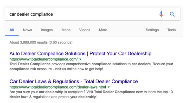 Car Dealer Compliance Search