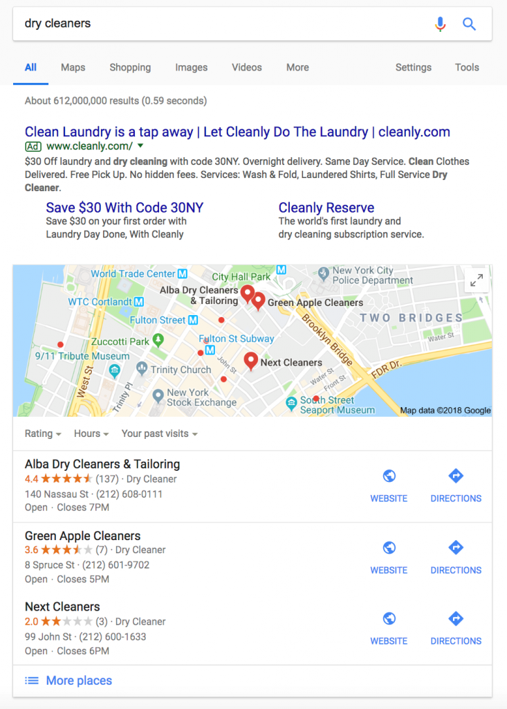 Dry Cleaner Search