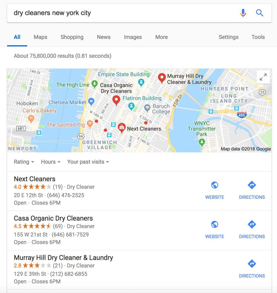 Dry Cleaners New York City Search