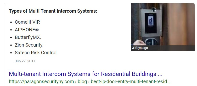 Types of Multi Tenant Intercom Systems